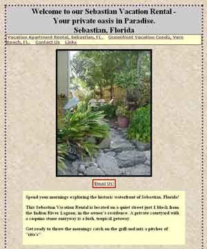 Vacation apartment in Sebastian, FL (Click to go to web site)